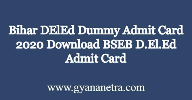 Bihar-DElEd-Dummy-Admit-Card-2020