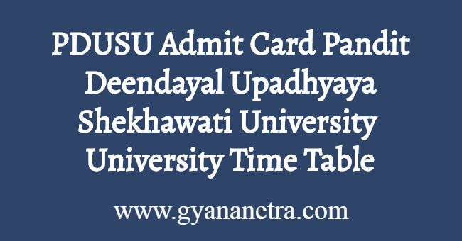 PDUSU Admit Card