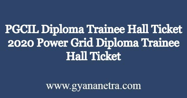 PGCIL-Diploma-Trainee-Hall-Ticke