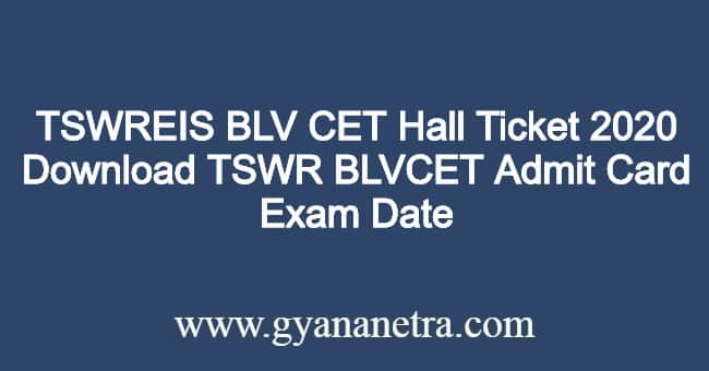 TSWREIS-BLV-CET-Hall-Ticket