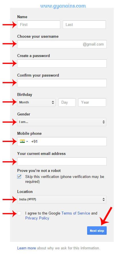 Google Gmail Id Kaise Banate Hai - ईमेल आईडी कैसे बनाये? - Gyanians