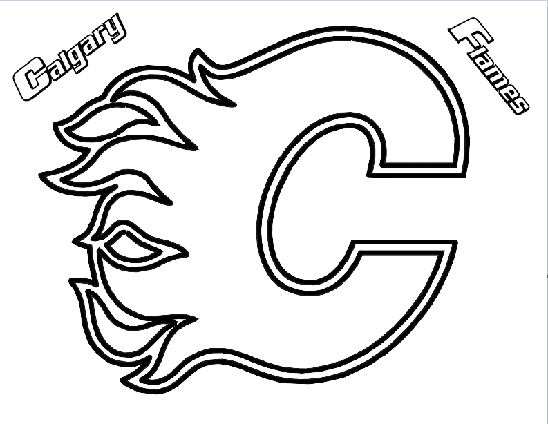 Vancouver Canucks Free Coloring Pages