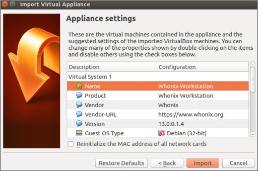 Whonix Virtual Machine Setup
