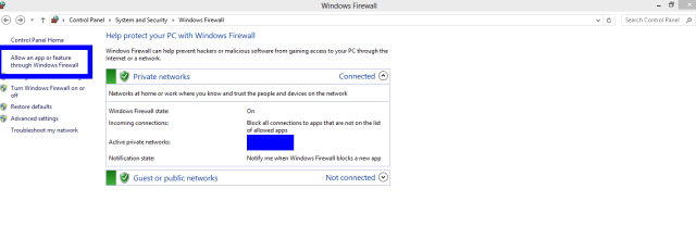 how to allow minecraft through windows firewall