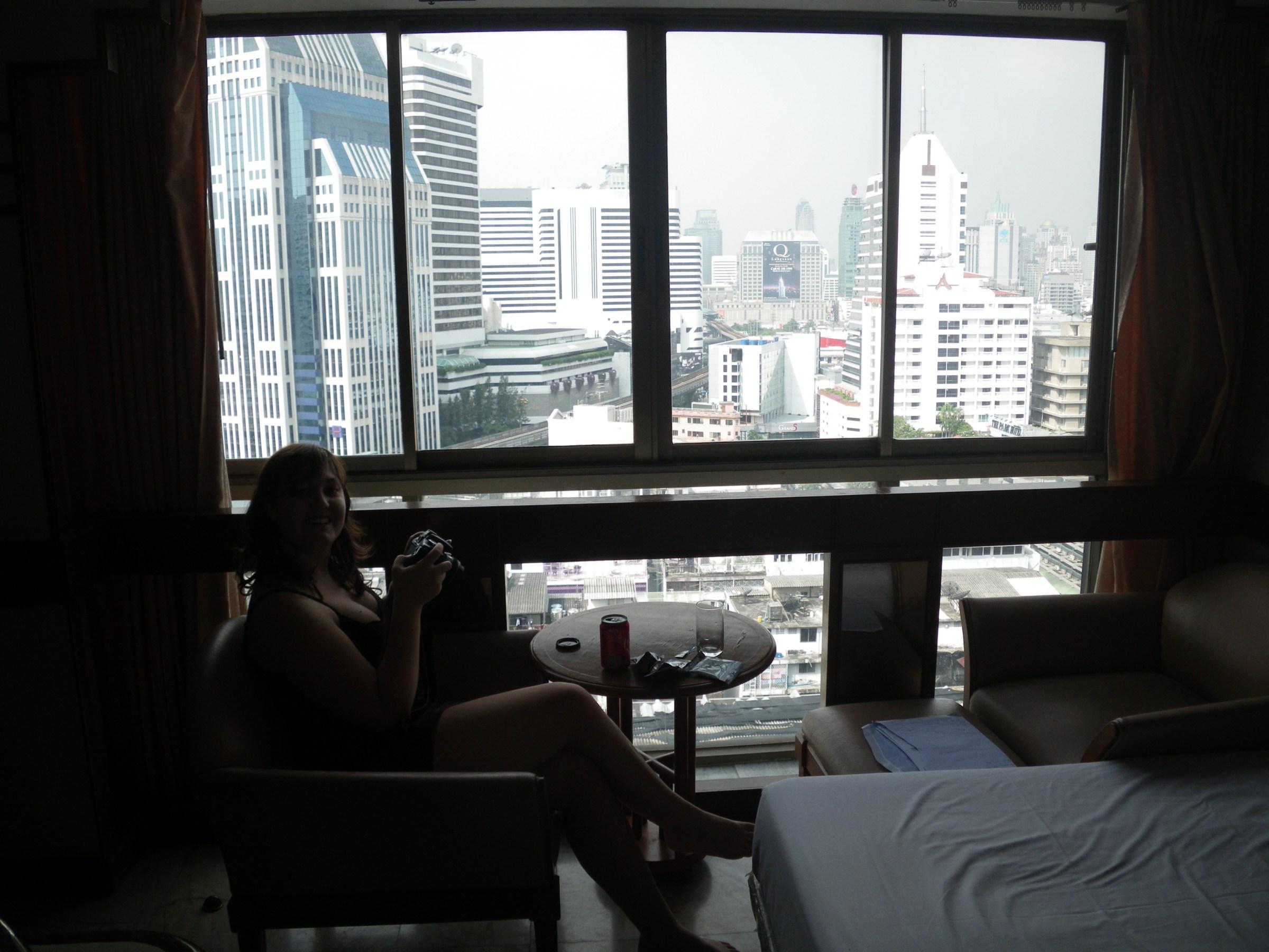Bangkok utanför fönstret