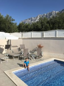 The pool and the boy