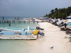 beach on Isla Mujeres