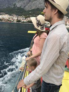 på en båt