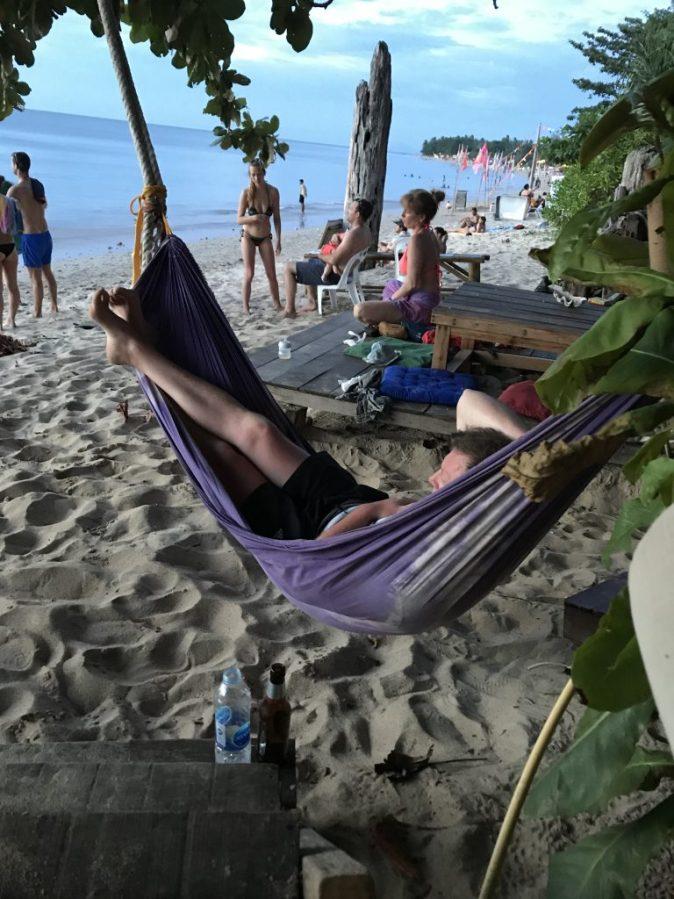 hängmatta på stranden
