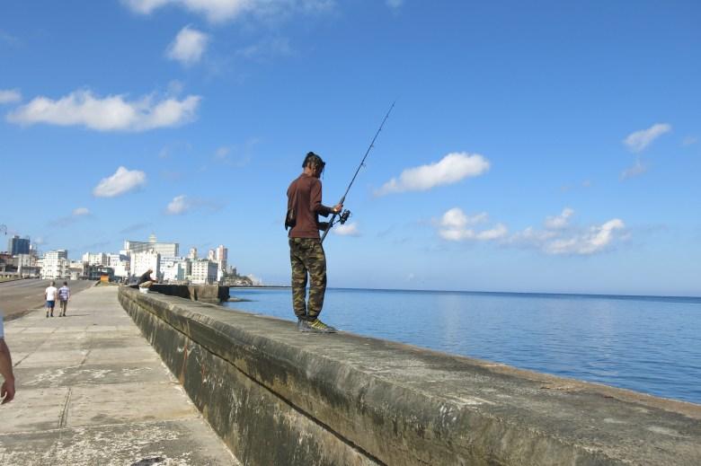 fishing on El malecon