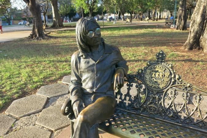 John Lennon in the park