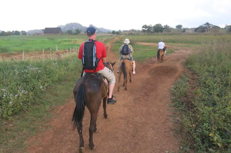 Gyllintours rider i Vinales