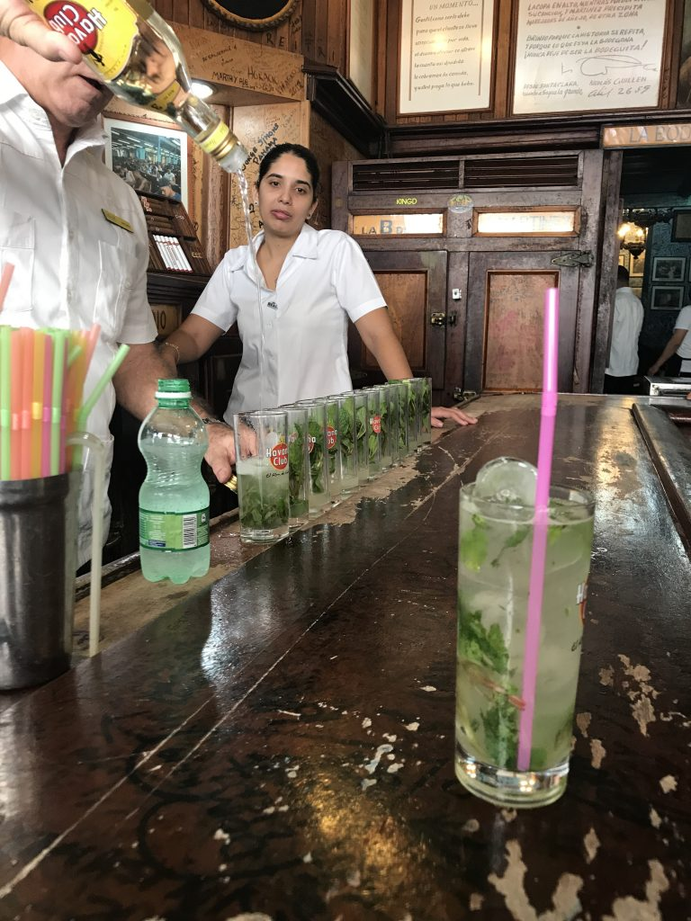 mojito at the bar