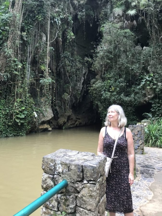 outside the cave