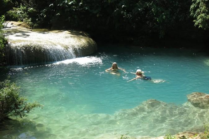 swim in clear water