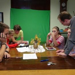 Před natáčením studia