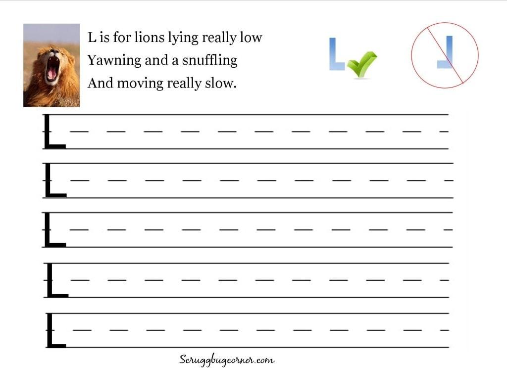 Preschool And Kindergarten Letter Writing Practice Worksheet