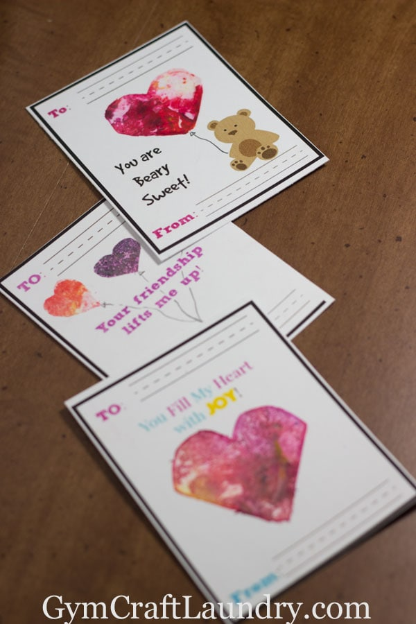 DIY Melted Crayon Art Valentines With Printable Gym