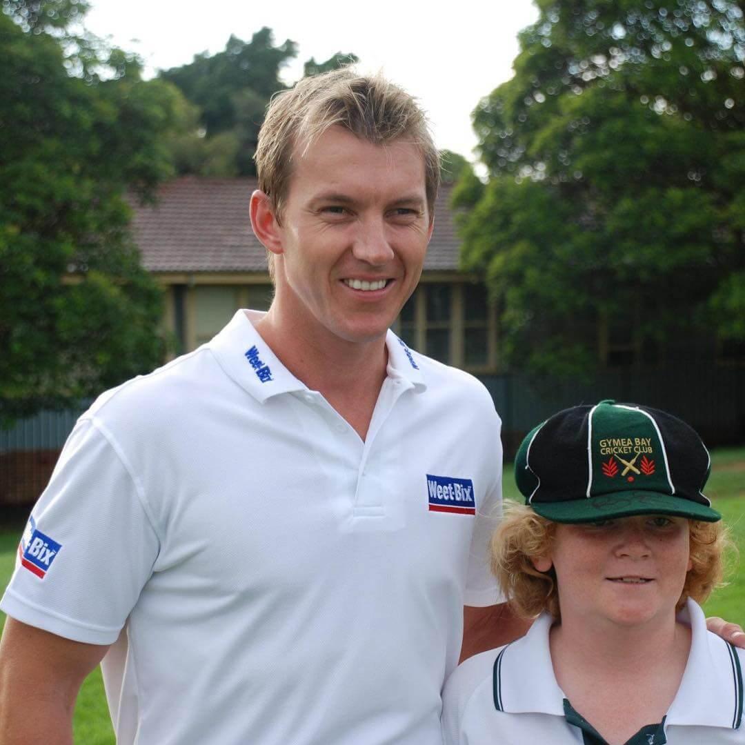 Junior Cricketer with Brett Lee