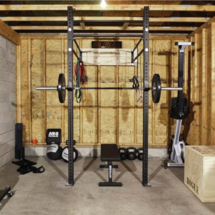 Home garage gym rogue fitness year of clean water