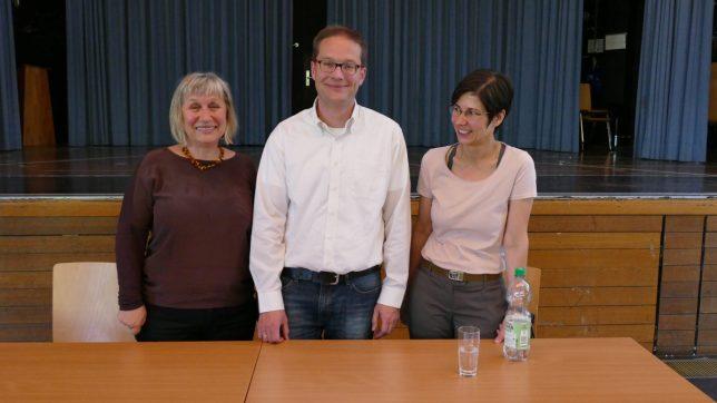Frau Klepo, Herr Tonn und Frau Dietz-Pentrys