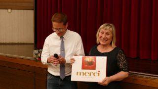 Herr Tonn und Frau Klepo am Ende der Veranstaltung