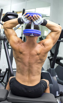 Dumbbell Triceps Extensions   gymJP.com