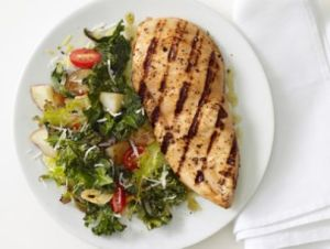 Grilled Chicken and Kale