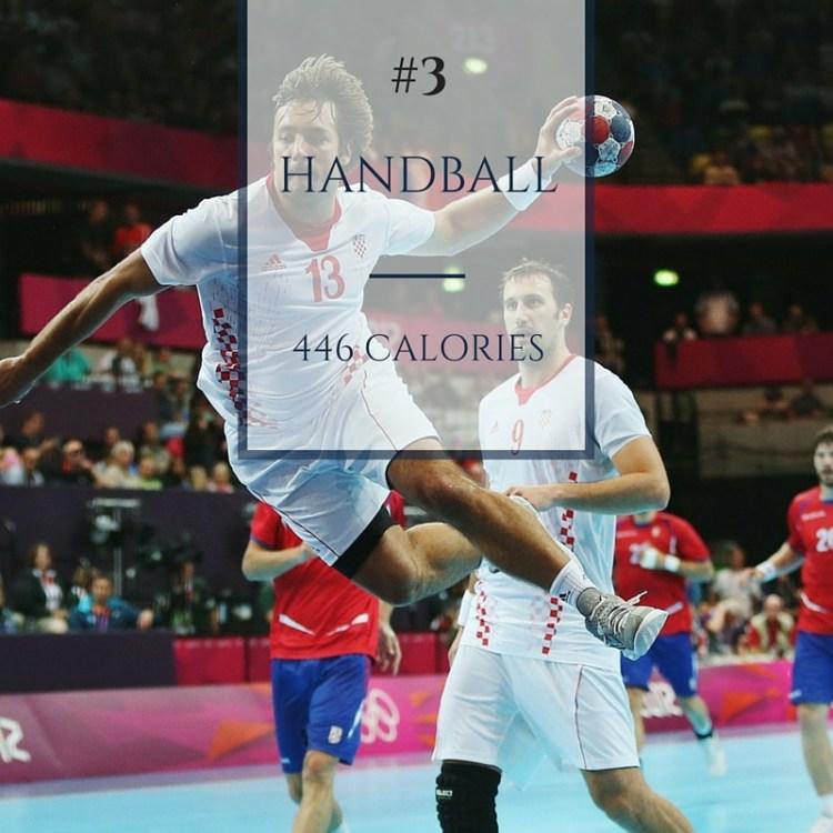 handball calories burned