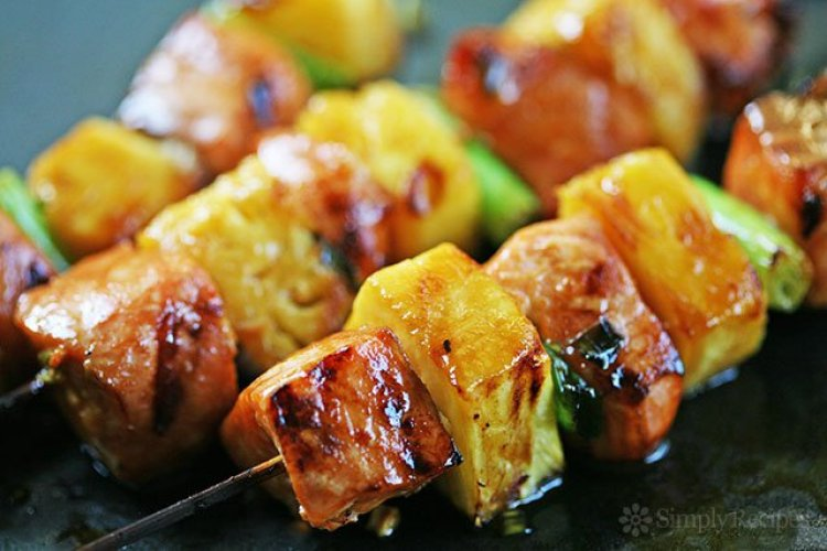 salmon pineapple kabobs