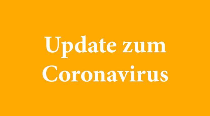 Hinweise zum Coronavirus – Update 16.10. 10.00