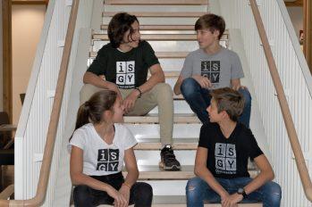 T-Shirts weiß + grün + grau + schwarz