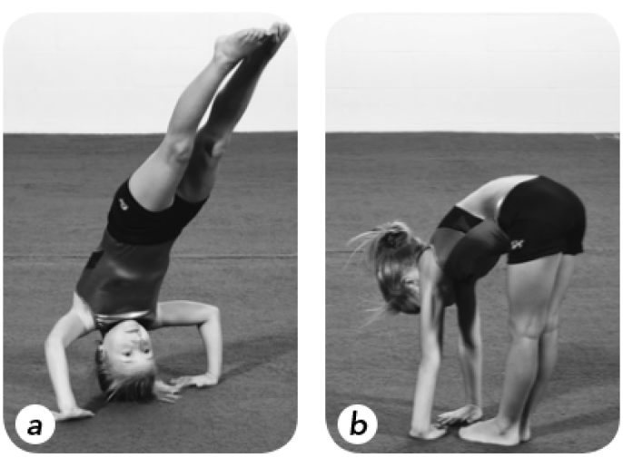 Backward Roll in gymnastics