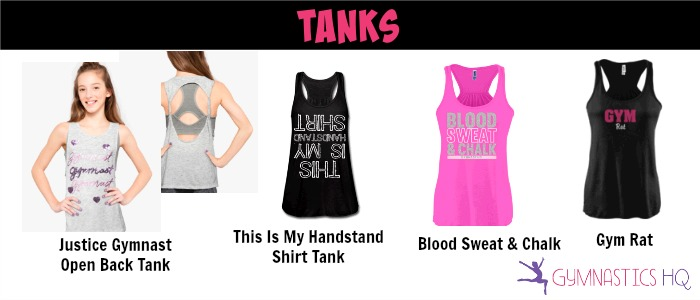 gymnastics tanks