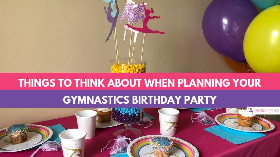 gymnastics party ideas supplies for