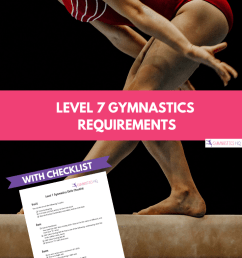 level 7 gymnastics requirements explained with free checklist [ 735 x 1102 Pixel ]