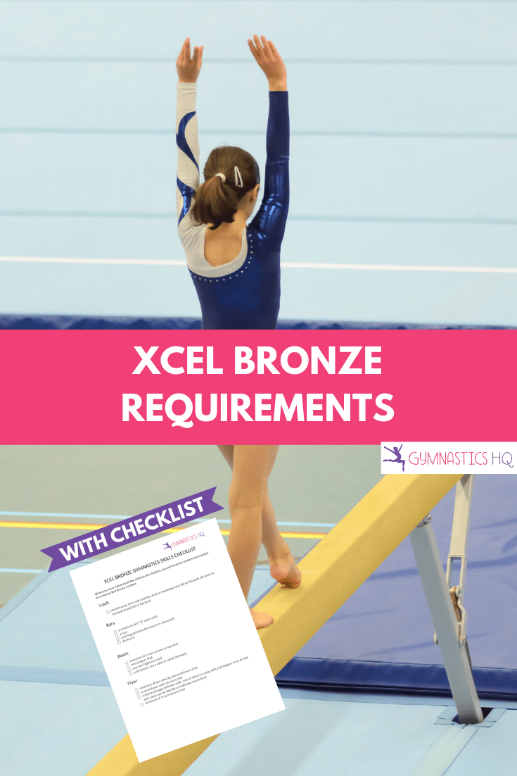hight resolution of xcel bronze gymnastics requirements with free checklist