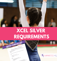xcel silver gymnastics requirements with checklist [ 735 x 1102 Pixel ]