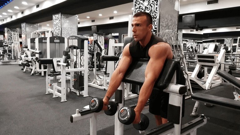 Read more about the article Dumbbell Hammer Preacher  Curl