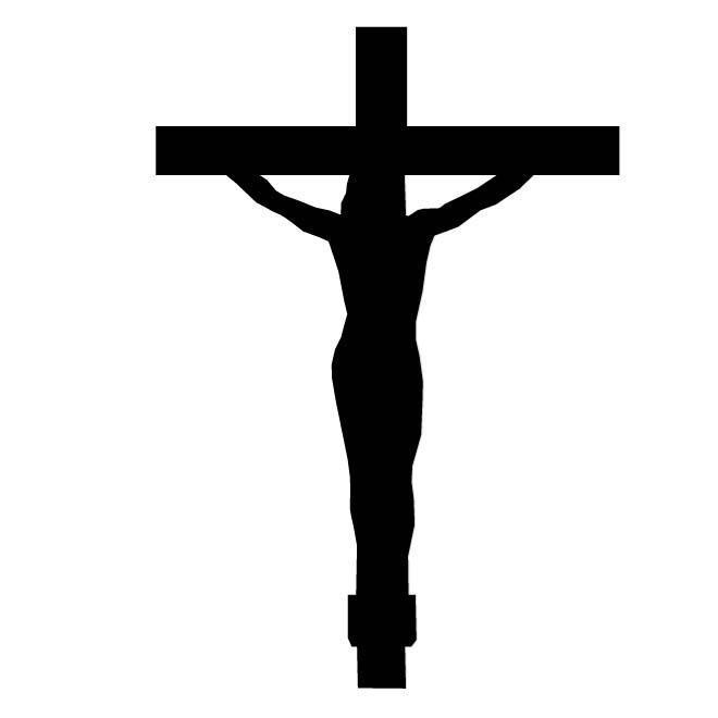 Christ On Cross Silhouette Symbol Car Decal Sticker Gympie Stickers