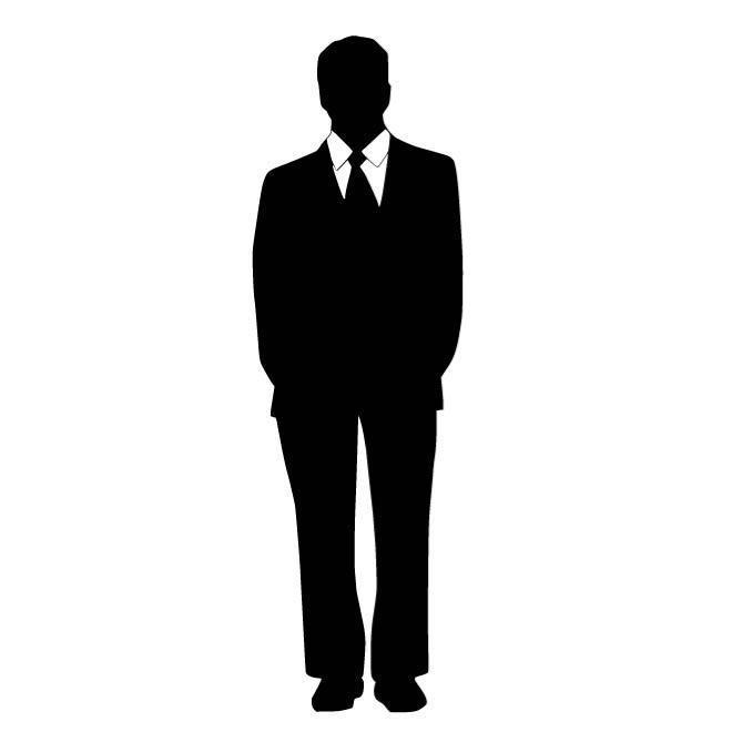silhouette man in suit
