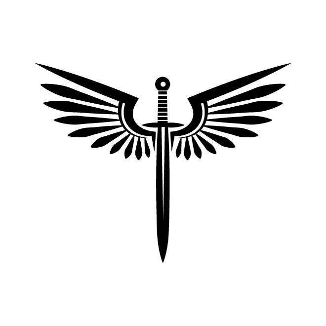 Sword With Wings Car Decal Sticker Gympie Stickers