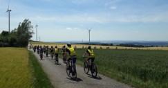Tourteilnehmer des Gymnasiums Traben-Trarbach bei der tour d'europe 2019