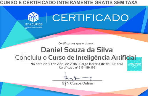 Certificado do Curso de Inteligência Artificial Básico