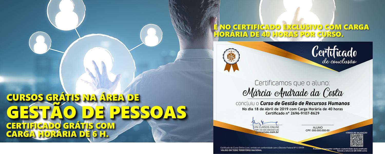 6652fb5ade4c78 Cursos de Gestão de Pessoas Online Grátis, Certificado Gratuito - GYN
