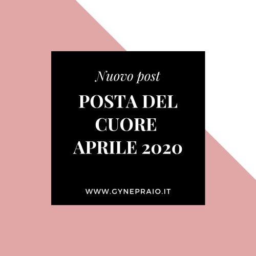 cover della posta del cuore aprile 2020