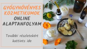 gyógynövényes kozmetikumok online alaptanfolyam