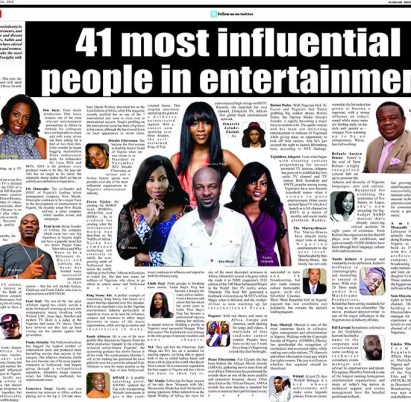 most influential people in the Nigerian entertainment industry