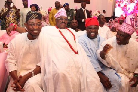 Ogbeni Rauf Aregbesola, Governor, Abiola Ajimobi , Gov Akinwumi Ambode and Senator Ibikunle Amosun
