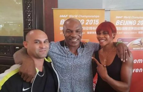 Blessing Okagbare and Mike Tyson